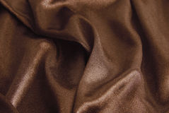 Brown silk texture Stock Image
