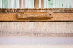 Brown silk yarn Stock Image