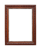 Brown with silver frame isolated on white. Picture frame to put pictures in Royalty Free Stock Photos