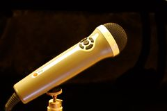 Brown and Silver Microphone Stock Photo
