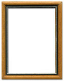 Brown and silver picture frame Royalty Free Stock Photography