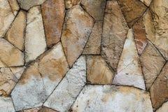Brown skały ściany tekstura Fotografia Royalty Free