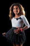 Brown skin girl wearing a dress Royalty Free Stock Photos