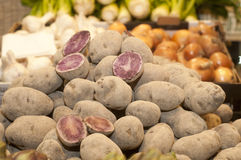 Brown Skin Red Flesh Potatoes Royalty Free Stock Photography