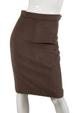Brown skirt Stock Images