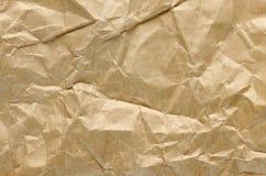 brown skrynkligt papper Royaltyfri Foto