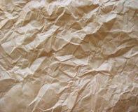 brown skrynkligt papper Arkivbild