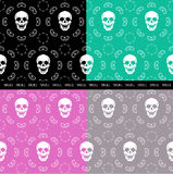 Brown Skull Pattern Royalty Free Stock Photos