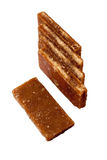 Brown slab sugar Royalty Free Stock Photos