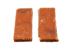 Brown slab sugar Stock Photos