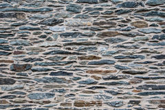 Brown and Slate Stone Wall Royalty Free Stock Image