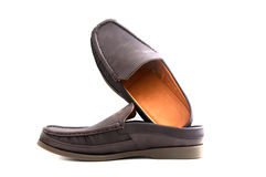 Brown slip-on casual shoes Royalty Free Stock Photos
