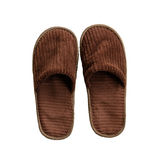 Brown slipper Royalty Free Stock Photography