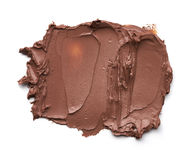 Brown smear paint of cosmetic products Stock Photo