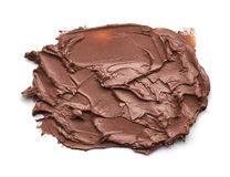 Brown smear paint of cosmetic products Stock Image