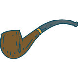 Brown Smoking Pipe Royalty Free Stock Photography