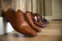 Brown Smokingowi buty Zdjęcia Royalty Free