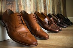Brown Smokingowi buty Zdjęcie Royalty Free