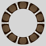 Brown snake ring. Round frame of reptile skin border based on color pattern of a brown king snake Stock Images