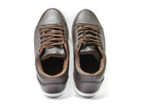 Brown sneakers Stock Photography