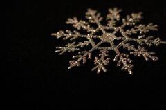Brown Snowflakes Stock Photo
