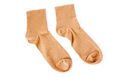 Brown socks isolated Royalty Free Stock Images