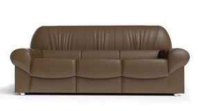 Brown sofa Stock Photography