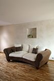 Brown-Sofa Stockbild