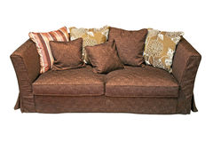 Brown sofa Royalty Free Stock Images