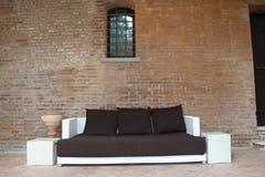 Brown sofa Stock Images