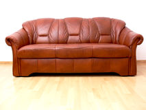 Brown sofa Stock Image