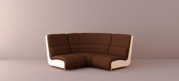 Brown sofa. In the interior Stock Photo