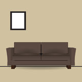 Brown sofa in interior Royalty Free Stock Photo