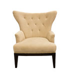 Brown sofa isolated Royalty Free Stock Images