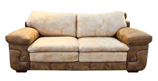 Brown sofa isolated Royalty Free Stock Photography