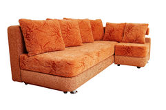 Brown sofa isolated on white Stock Image