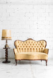 Brown sofa with lamp Royalty Free Stock Photography