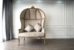 Brown sofa with luxurioius look. Image of Brown sofa with luxurioius look Stock Photos