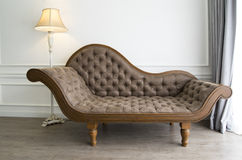 Brown sofa with luxurious look royalty free stock photo