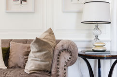 Brown sofa in luxury living room Royalty Free Stock Photo
