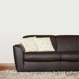 Brown sofa part stock image