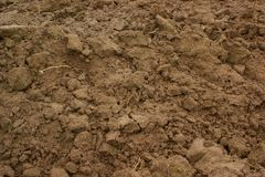 Brown soil, agricultural background Royalty Free Stock Photo