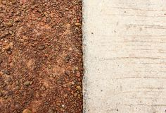 Brown soil and concrete texture and background Stock Photography