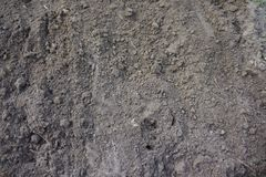Brown soil. Brown dry soil in the german earth Royalty Free Stock Photos
