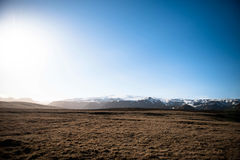 Brown Soil Ground Under Blue Sunny Sky Royalty Free Stock Photo