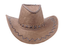 Brown sombrero isolated Stock Image