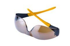 Brown-Sonnenbrillen getrennt auf weißem Hintergrund Stockbilder
