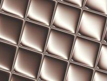 Brown sottrae il fondo di frattale che somiglia ad una barra di cioccolato con un effetto spaziale Fotografie Stock Libere da Diritti