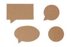 Brown speech bubbles Stock Photos