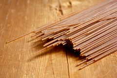 Brown spelt spaghetti Royalty Free Stock Photo